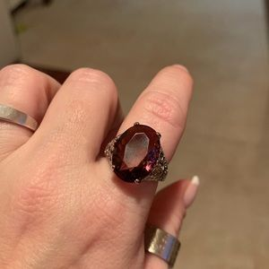 Natural 6 ct Alexandrite Sterling silver ring NWT